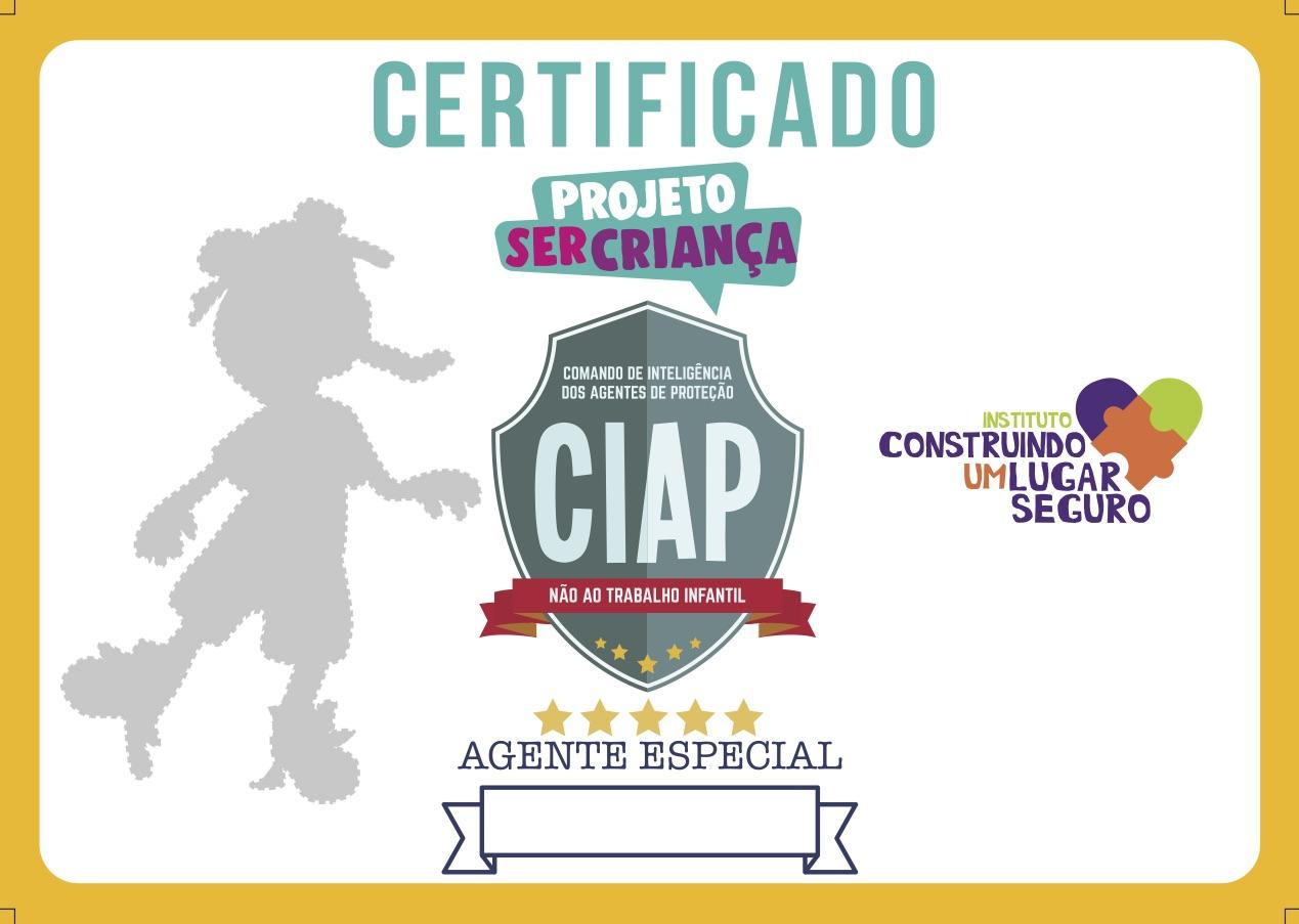 CERTIFICADO A5 - SER CRIANÇA